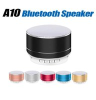 Wholesale music boxes audio resale online - New LED MINI Bluetooth Speaker A10 TF USB FM Wireless Portable Music Sound Box Subwoofer Loudspeakers For Phone PC