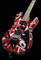Heavy Relic Eddie Edward Van Halen Red Franken Stein ST Electric Guitar Black White Stripes, Floyd Rose Tremolo Bridge & Whammy Bar, Alder Body, Maple Neck