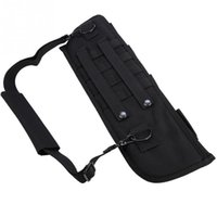 naylon taşıma çantası toptan satış-Taktik Kılıfı Molle Naylon Avcılık Çanta Taşıma Tüfek Çantası Açık Omuz Sling Vaka Yastıklı Kılıf Avcılık Aksesuarları # 324567