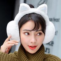 ohrenschützer verkauf großhandel-Frauen Cartoon Katzenohren Design Winter Warm Einstellbare Ohrenschützer Außen Winddicht Ohrenschützer Beste Sale-WT