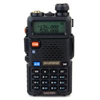 uhf transceptor móvel venda por atacado-Rádio menor Radio preço Walkie Talkie BAOFENG BF-UV5R Walkie Talkie 128CH UHF + VHF 136-174MHz + 400-480MHz DTMF dois sentidos portátil