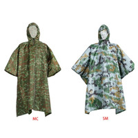 Wholesale portable raincoats for sale - Group buy Unisex Waterproof Rain Poncho Cape Hooded Packable Cycling Raincoat Cover Travel Portable Cmouflage Shelter Mat Hiking Camping