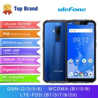 Wholesale video camera waterproof online - 4GB GB uleFone Armor IP68 Waterproof G LTE Bit Octa Core MTK6763 NFC OTG GPS MP Camera Wireless Charge mAh Rugged Smartphone