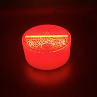 adaptador ba15d al por mayor-3D LED Base de luz nocturna Cable USB que brilla intensamente Sensor táctil Alimentado por batería Controlador remoto Titular 3d LED Base de lámpara de noche Luminoso