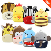 Wholesale kids playing toys resale online - Children School Bag Plush Cartoon Toy Baby Backpack Boy Gril Kids Backpacks play bag Cartoon Bookbag Kindergarten Toys Gifts School Bags