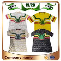 ingrosso camicie bianche-Novità 2019 Mali Soccer Maglie 19/20 Mali Home Bianco Away Yellow Soccer Maglie manica corta uniforme nazionale di calcio personalizzata