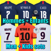 xl 18 al por mayor-19 20 PSG JORDAN camiseta de fútbol 2019 2020 ICARDI camisa Paris Saint Germain NEYMAR JR MBAPPE soccer jerseys camisa cavani Survetement futebol kit CHAMPIONS camisa de futebol