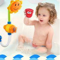 ingrosso giochi di acqua giochi di plastica-Bambino Divertente gioco d'acqua Bagno giocattolo Vasca da bagno Acqua Nuoto Bagno Bagno Giocattoli per bambini
