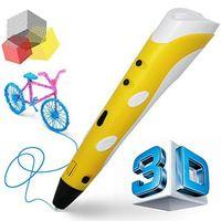 kostenloser 3d drucker großhandel-Klassische 3D-Druck Stift 3D-Zeichenstift mit PLA-Filament kostenlose Probe Einstellbare Arts Printer 3D-Stift-Kit für die besten Geburtstagsgeschenke der Kinder