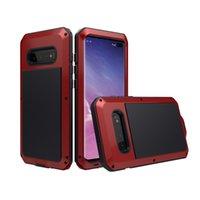 iphone yağmurunu örtün toptan satış-Lüks Doom Zırh Darbeye Dayanıklı Yağmur Su Geçirmez Metal Kasa iphone 6 6 s 7 8 7 Artı X XS XR Max S10 S10e S9 Koruyucu Kılıf Kapak