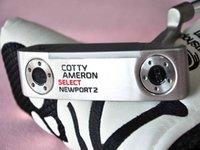 стальной шар черепа оптовых-Мужской Silver Golf Newport 2 Skull Push, стальной вал, 32/33/34/35/36, с шариковой крышкой, бесплатная доставка
