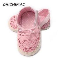 sapatas pequenas do verão do bebé venda por atacado-Shoe primeira Walkers criança Meninas Outdoor sólidos Shallow lacinho Verão Baby Girl Botas Infante recém-nascido Shoes
