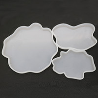 Wholesale molds for sale - Group buy Agate Geode Coasters Silicone Moulds Epoxy Resin Mold Drinkware Coaster Molds DIY Crafting Resinart Size