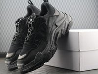 Wholesale men casual elevator shoes for sale - Group buy New Triple S Shoes Men Women Sneaker High Quality Mixed Colors Thick Heel Grandpa Dad Trainer Triple S Casual Shoes With Elevator Shoes gju