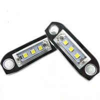ingrosso lampada volvo-Gzhengtong Nikauto 2pcs Licenza LED automobilistico Assemblea della lampada luce targa per Volvo S40 S60 S80 XC70 XC60