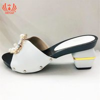 Wholesale women shoes bags sets resale online - New White Color African PU Leather Shoes And Bag Matching Set With Peal Shoe Women Italian Shoes And Bag Set For Party Wedding