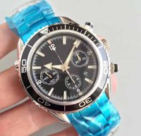Wholesale flyback chronograph watch for sale - Mens luxury Superlative Chronograph Flyback ETA Automatic Movement bph Mens Black ceramic sapphire crystal Watches