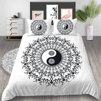 Wholesale 3d print bedding set full resale online - Tai Chi Bedding Set Creative Fashionable Floral Duvet Cover King Queen Twin Full Single Double Comfoetable Bed Cover with Pillowcase