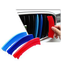 Wholesale grille cover trim for sale - Group buy 3pcs D Car Front Grille Trim Strips Cover Motorsport Stickers For BMW F30 F10 Series M Power Performance Accessories