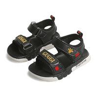 sandalias de niño 12 al por mayor-niños zapatos de diseño niños sandalia niño niños playa Zapatos chaussures enfants Moda infantil Aire zapatos de suela suave tamaño eru 21-35 2 estilos