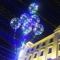 led ışıklar ücretsiz toptan satış-Aydınlık Bobo Balonlar LED Topları Renkli Işık Balon Düğün Festivali Için 20 inç Balonlar Aydınlık Süslemeleri Oyuncaklar Ücretsiz DHL 648