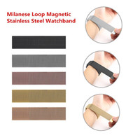 Wholesale apple watch bands milanese resale online - 1Pcs Up Watch Band Strap MM MM Milanese Loop Magnetic Stainless Steel Watchband With Adapter Connector For Apple Watch Series