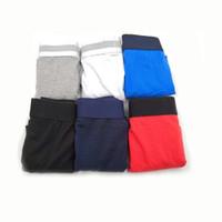 bayan boksör pantolon külotlu toptan satış-5 adet / grup Ünlü Erkek İç Giyim Boxer Kısa Şort Lüks Seksi Iç Çamaşırı Rahat Kısa Adam Nefes İç Pamuk Erkek Eşcinsel Boksörler Hombre