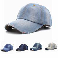 ingrosso jean cappelli-Cappellino da baseball vintage unisex da cowboy Uomini causali Campeggio sportivo Snapback Cappelli da donna all'aperto Jeans da viaggio TTA1125