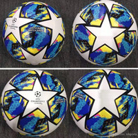Wholesale balls resale online - 19 UEFA Europa Champions League soccer ball CONEXT Official match balls PU size adult Skin