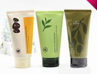 gesichtsreinigung cremes großhandel-Dropshipping INNISFREE Jeju Volcanic Pore Reinigungsschaum Olive Real Cleasing Foam Grüner Tee Reinigungsreiniger Gesichtsschaum Gesichtscreme