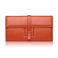 Wholesale litchi wallet purse for sale - Group buy 100 genuine Leather Womens Wallets And Purses Litchi Soft Purse Fashion Ladies Long Wallets Zipper Card Holder Carteira Feminina Y19062003