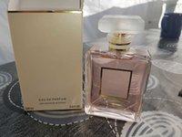 büyük parfüm toptan satış-Büyük İsim Parfüm Deodorant Unisex COCO YOK 5 ŞANS Lady Parfüm Yüksek Kaliteli Su 100ML EDT EDP Kalıcı ong Cam şişe Sprey
