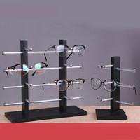Wholesale sunglasses display stand rack resale online - Wood Eye Glasses Sunglasses Rack Display Stand Holder Black