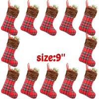 meias de meias vermelhas venda por atacado-201909 mais novo de alta qualidade Red manta do Natal Meias Moda Criativa Pendant decoração Home Supplies Saco dos doces Crianças Sock melhor presente M471A