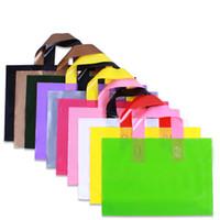 kıyafetler ayakkabıları toptan satış-Özelleştirmek Logosu Plastik Torba 30x20 cm 35x25 cm 40x30 cm 45x35 cm 50x40 cm Ayakkabı Iç Çamaşırı Şapka Giysi Çanta Kolu Takı ile Takı Makyaj Hediye Kılıfı