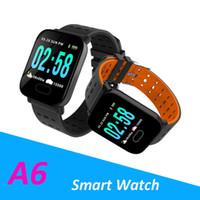 el feneri izleme toptan satış-Yeni Geliş A6 Fitbit Spor Akıllı Bant Tansiyon Akıllı Bilezik Nabız Kalori Tracker IP67 su geçirmez Bileklik İzle