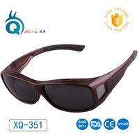 polarisiert über brille sonnenbrille großhandel-Passen Sie über Sonnenbrillen mit Myopie-Brillen Polarisierte Sonnenbrillen über Korrekturbrillen Plus Größe für große Größe Myopie Rahmen # 498753