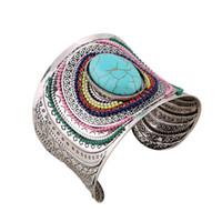 bonitos braceletes grandes venda por atacado-Abra Ampla Grande Pulseiras Amp Pulseiras Para As Mulheres Homens Cor Prata Liga Feminino Bonito Cuff Bangle Bracelet Moda Jóias accesorios
