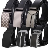 ingrosso mens cinghie automatiche a fibbia-Cinghie di marca famose di alta qualità cinturino in pelle maschile di alta qualità con fibbia automatica in metallo Cintura da uomo di lusso