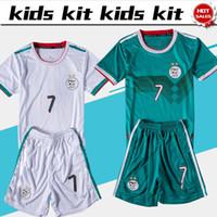 weiße kinderkurzschlüsse großhandel-Kids Kit 2020 Algeria Home weiß Fußball Trikots Jungen 19/20 Kind Anzug weg grün Fußball Uniformen Customized Trikot + Shorts