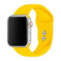 apfeluhr schnalle großhandel-Sport Band Für Apple Watch Armband 38mm 40mm 42mm 44mm Doppel Gummischnalle Silikon IWatch Band Für Apple Watch 81024