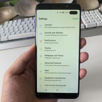 dual core phone venda por atacado-Ultra-sônico Impressão Digital Goophone S10 + S10 Plus 3G Quad Core WCDMA MTK6580 1 GB 8 GB Android 9.0 6.0