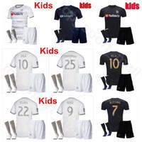 üniforma çoraplar toptan satış-Gençlik LAFC Jersey Çorap Seti Futbol 2019 2020 MLS Los Angeles ROSSI KAYE DIOMANDE HARVEY BEITASHOUR VELA Çocuklar Futbol Gömlek Kitleri Üniforma