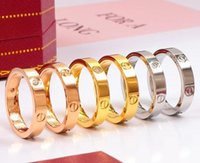 Wholesale gold bands for couples resale online - Hot selling mens womens L Titanium steel silver rose gold love ring gold ring for lovers couple ring as gift