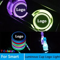 Wholesale roadsters cars for sale - Group buy 2 Led Car Logo Cup lights For Smart fortwo FORSPEED FORFOUR ROADSTER FORSTARS light Luminous Coaster Accessories
