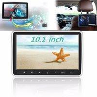 reproductor mp4 de pantalla táctil al por mayor-10.1 pulgadas de coches reposacabezas monitor automáticamente DVD reproductor multimedia MP4 MP5 Reproductor de vídeo de alta definición TFT LCD de pantalla táctil 1024x600 Bluetooth / USB / FM