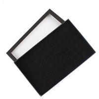 Wholesale chinese display cases for sale - Group buy 36 Grid Ring Ear Studs Jewelry Storage Display cardboard Box Wedding Jewelry Casket Pack Show Collection Case Holder