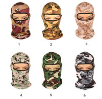 Wholesale army airsoft masks for sale - new Multicam Sports Camo Balaclava mask Airsoft Hunting Outdoor Camouflage Army Cycling Motorcycle Cap Hats Full Face Masks tactical hood