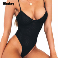 Wholesale sexy high cut thong for sale - Group buy Black Thong One Piece Swimsuit Mesh Sexy High Cut Swimming Suit Women Brazilian Swimwear Trikinis Mujer Monokini