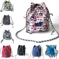 un bolso de la correa de las mujeres al por mayor-Diseñador Bucket Bag Purse Women One Shoulder Bag Brand KA 10 Colors Drawstring Bags Canvas Travel Beach Shopping Strap Bags Totes B80801